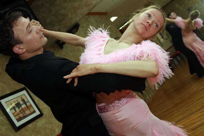 Jacksonville Beach ballroom dance couple are hard working champions-Shorelines article